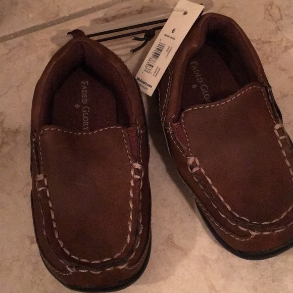 Faded Glory Other - Faded Glory Boys Size 6 Loafers - Brown